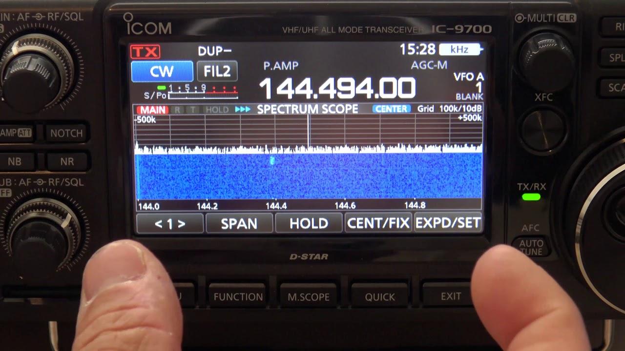 Icom IC-9700 Scope/Waterfall Functions And Settings