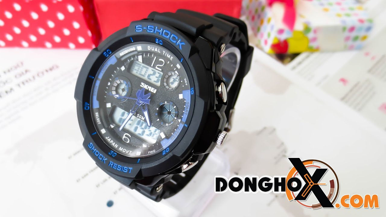 Hng Dn S Dng Ng H Th Thao Skmei Shock Dhsk 030 Youtube Sport Watch Water Resistant 50m Dg1025