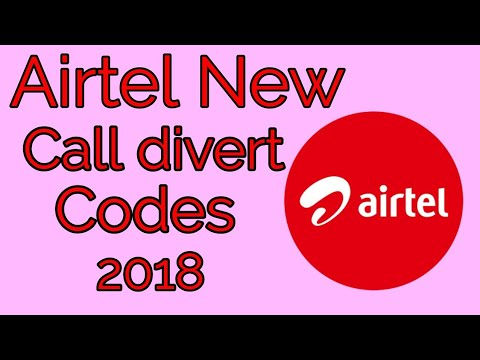 Airtel new call divert codes 2018