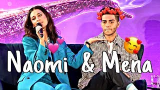 Gambar cover Naomi Scott and Mena Massoud Cute & Funny Moments