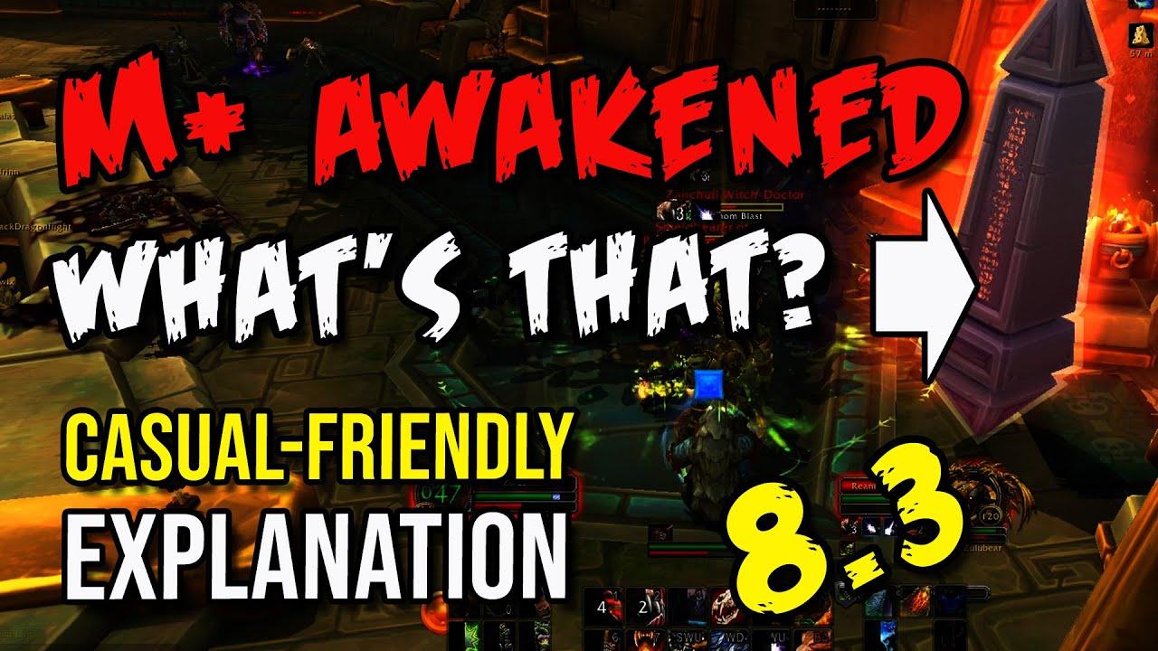 Mythic+ AWAKENED affix explained Casual-Friendly way!   How to use the Mythic Plus OBELISKS? - YouTube
