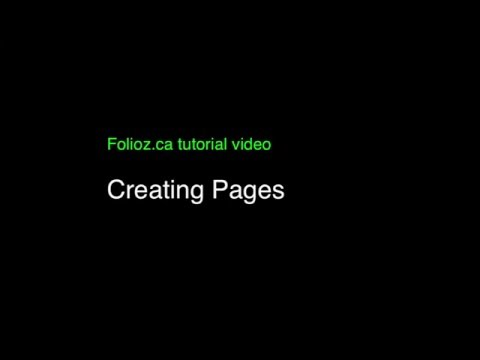 Tutorial nine: Creating pages