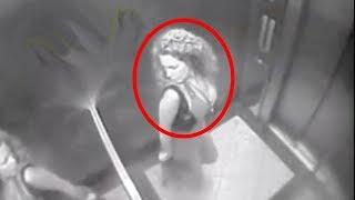 تحرش جن بفتاة داخل المصعد، ستنصدم | لحظات لو لم تسجل لم تكن لتصدقها!!