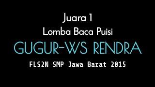 Juara I Baca Puisi SMP FLS2N Jawa Barat~2015-1