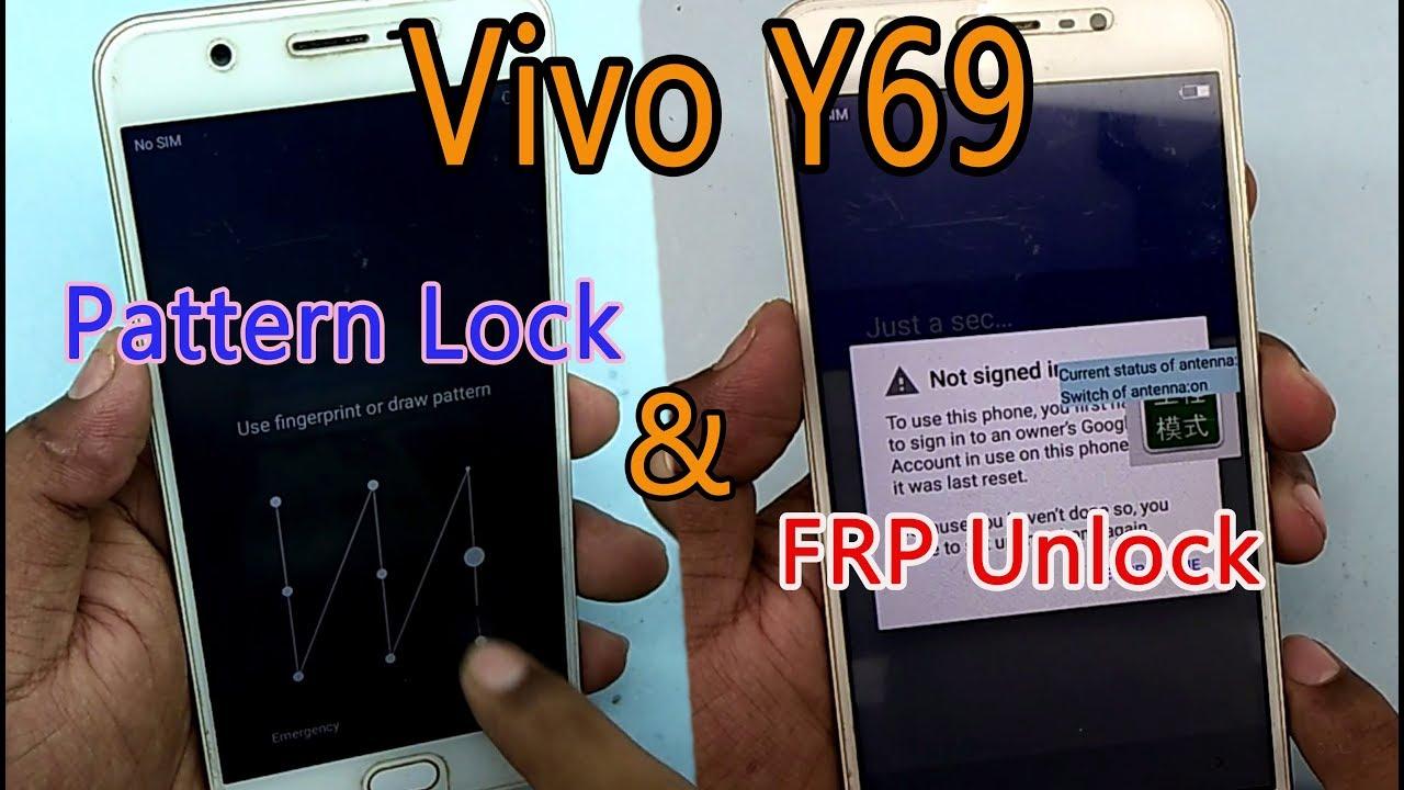 Vivo Y69 (1714) Unlock pattern & FRP Remove Done 100% work