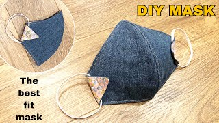 DIY MASK from JEANS Reuse old clothes ideas Face mask sewing tutorial at home