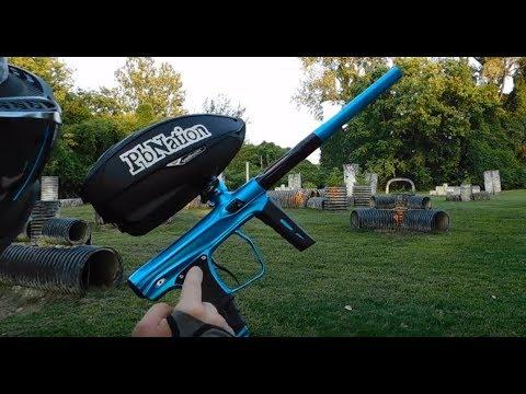 New 2017 Shocker XLS paintball gun from SP - first shooting video