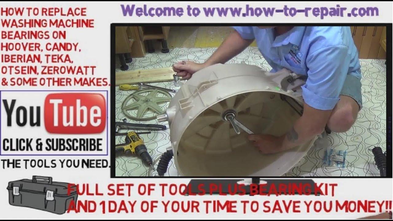 how to replace washing machine bearings on candy hoover otsein zerowatt  [ 1280 x 720 Pixel ]