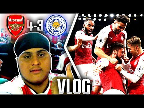 Arsenal 4-3 Leicester City | Match Day VLOG💥AFTV Young Gunz💥
