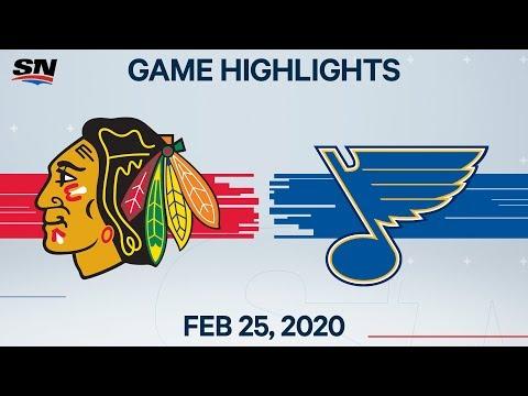 NHL Highlights | Blackhawks Vs. Blues – Feb. 25, 2020