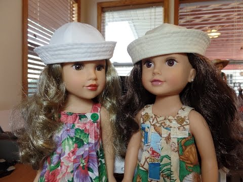 How to Make a Sailor's Cap for Dolls Part 4