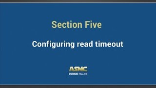 DDI Training Section 5 - Configuring read timeout