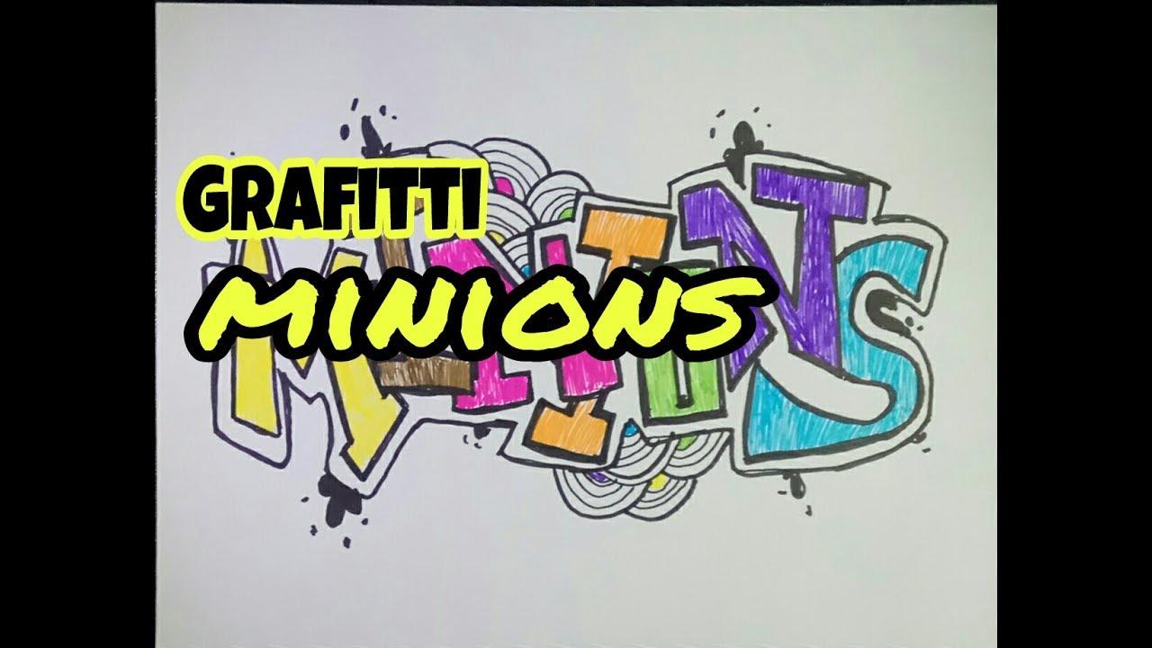 Tutorial cara menggambar grafitti mudah di kertas