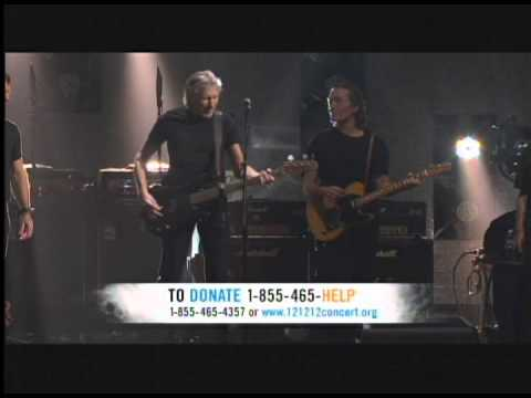 Roger Waters, Pink Floyd Money 121212concert Hurricane Sandy