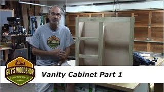 This is the first part in a series of how to build a vanity for your bathroom. I start the project by making the pulling the face frame parts