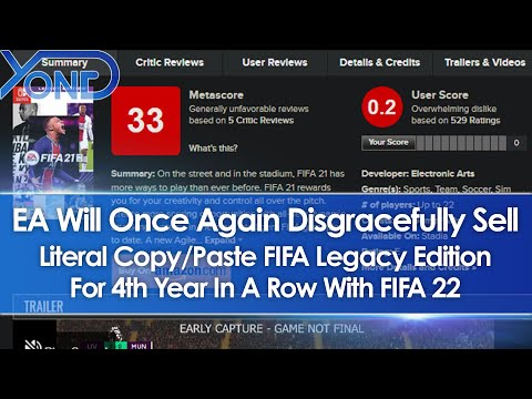 EA Makes FIFA 22 PC Port Last-Gen Again, Sells Copy/Paste Legacy Edition For 4th Year On Switch