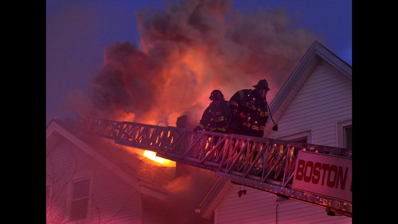 Firefighters Battle 8 Alarm Fire In East Boston
