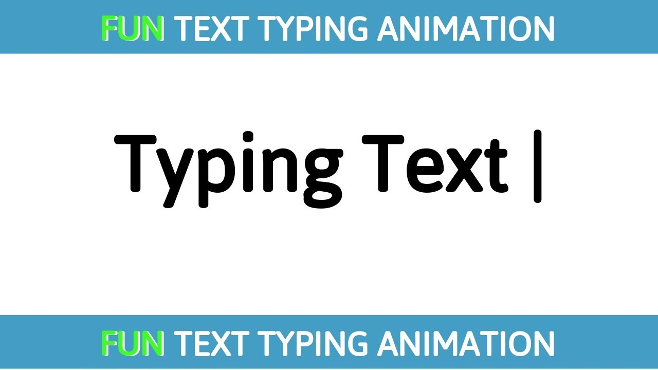 Text Typing Animation Effect using HTML CSS JS   Typing Fun Text Animation   Source Code