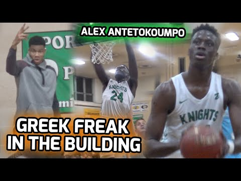 Giannis Antetokounmpo Watches Little Bro Go Off For 28 POINTS! Alex Shows Off His PRO MOVES! 🤩