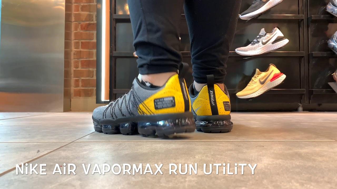 nike air vapormax run utility on feet