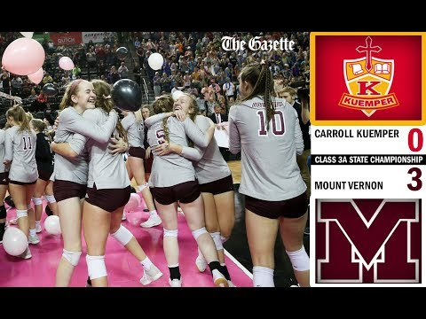 Mount Vernon Sweeps Kuemper For 2019 Iowa Class 3A State Volleyball Championship