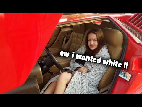 SPOILED GIRL hates her new Lambo