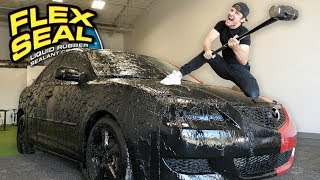 Download I Covered My Entire Car With Flex Seal Liquid!! Mp3 and Videos