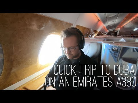 Attaché Travels - Part 3 Dubai in Business Class on an Emirates A380