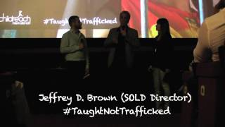 Jeffrey D. Brown discusses child trafficking in Sold The Movie #TaughtNotTrafficked