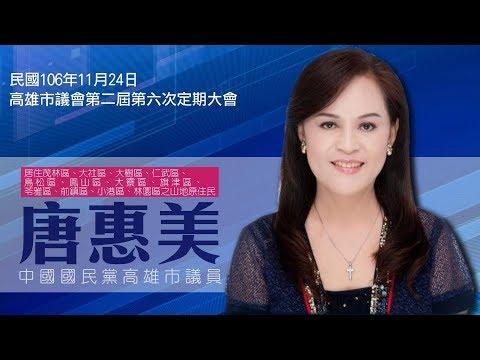 1061124高雄市議員唐惠美市政總質詢精華版