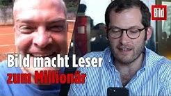 Hier erfährt Sandro Schurig vom Millionen-Gewinn beim Tippspiel