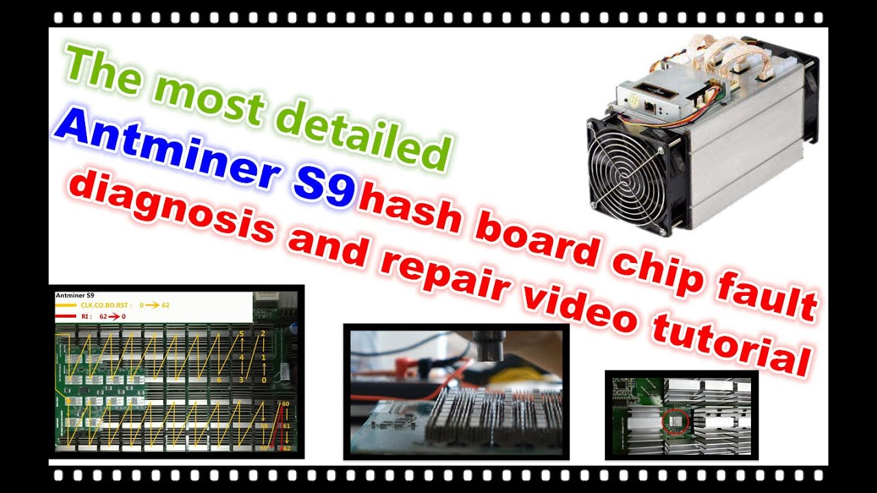 Antminer S9 hash board repair and fault diagnosis video tutorial New /  Ремонт Antminer S9