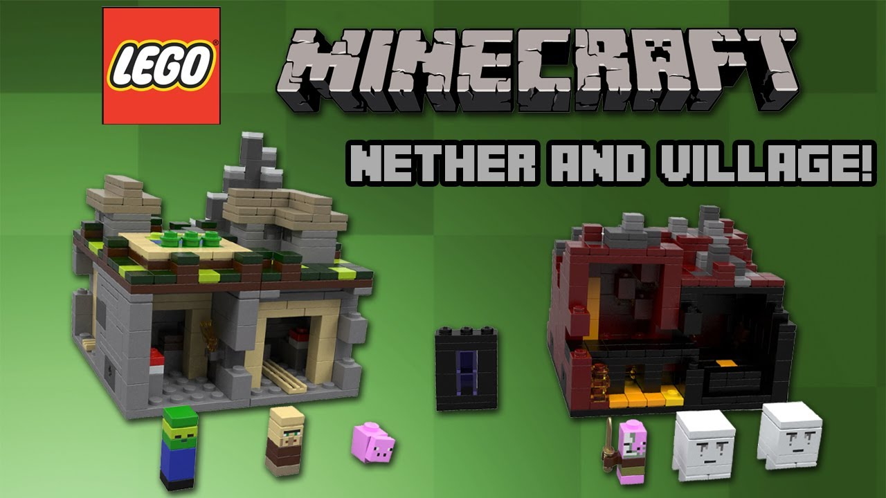 LEGO Minecraft 2013 The Nether 21106 And The Village 21105 Announced YouTube