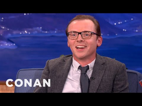 Simon Pegg Loves To Torture His Twitter Followers  CONAN on TBS
