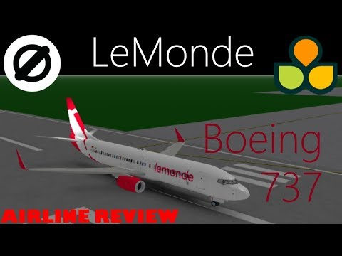 ROBLOX AIRLINE REVIEW: LeMonde 737 Flight (IT GOT CANCELLED?)
