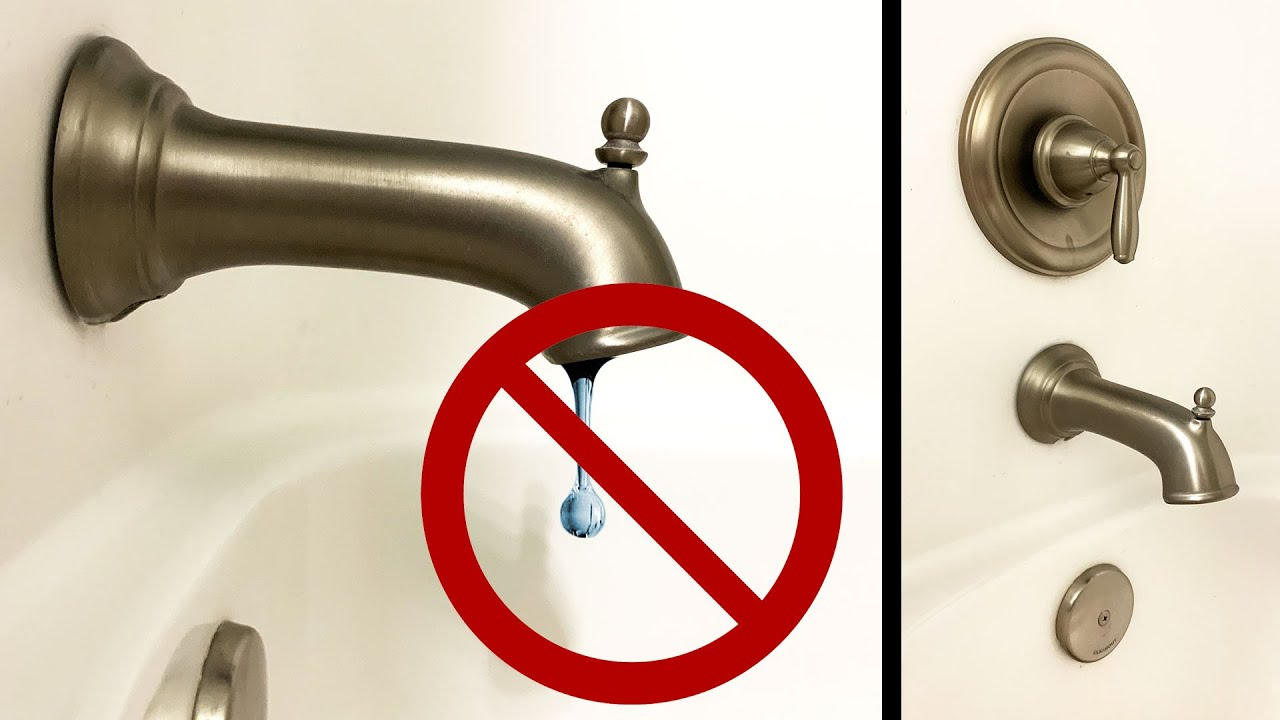 how to repair a leaky moen tub shower in 30 minutes