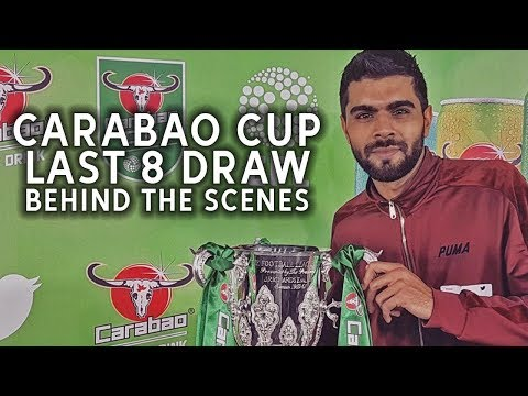 Behind The Scenes | Carabao Cup Quarter Final Draw | VLOG