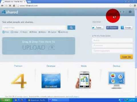 how to make 4shared com account