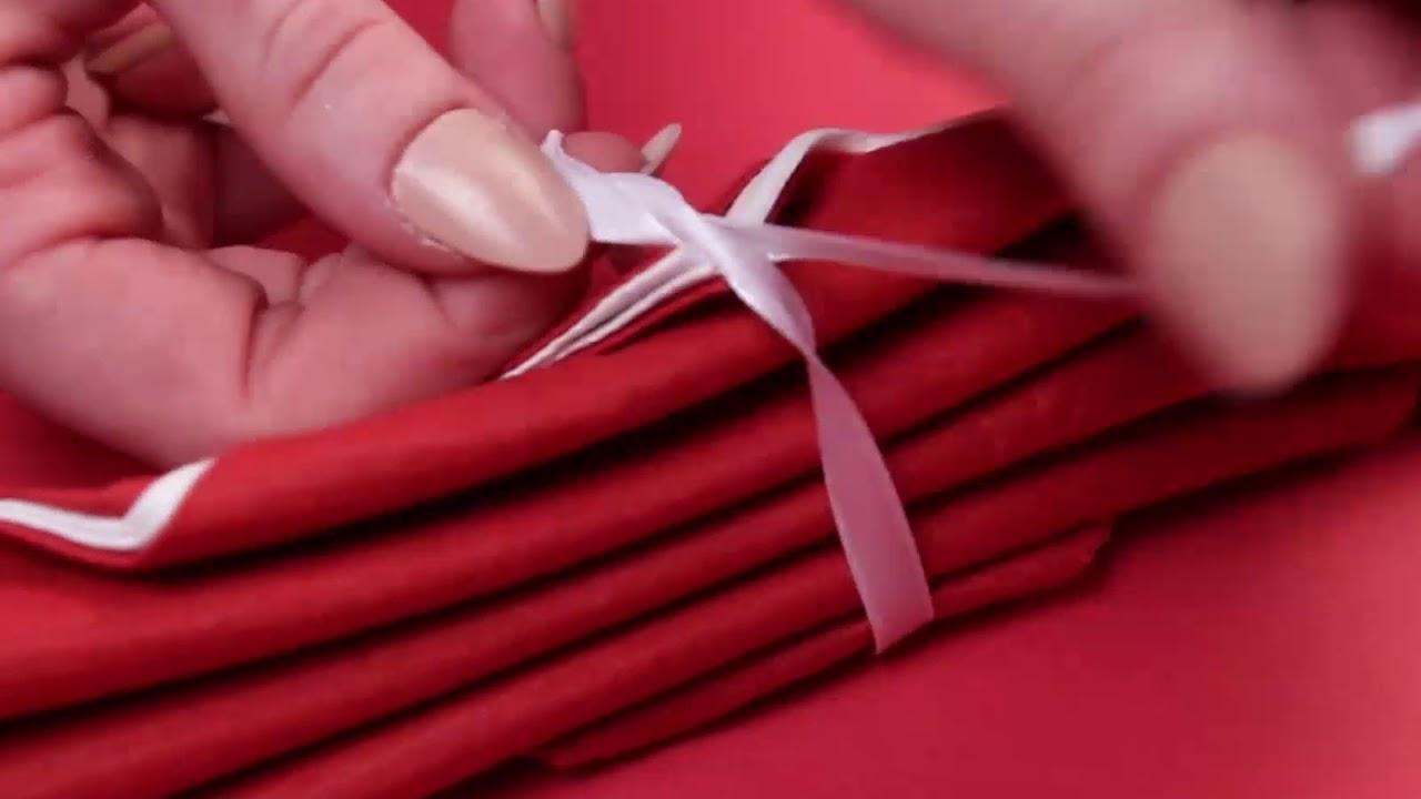 Pliage De Serviette En Papier Facile Pour Anniversaire