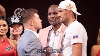 SERGEY KOVALEV TOWERS OVER CANELO ALVAREZ IN FACE TO FACE AT FINAL PRESS CONFERENCE