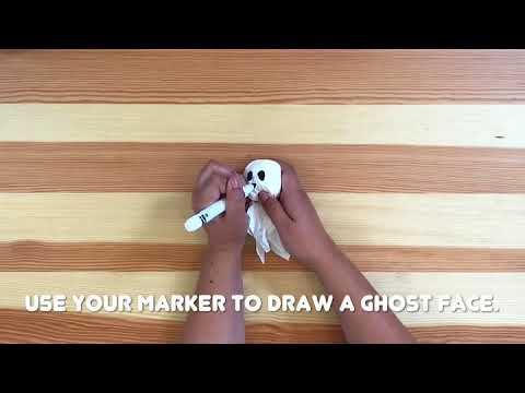 How to Make Halloween Tissue Ghosts