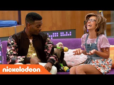 Kel Mitchell & Maddie Shipman Hangin' w/ A Monkey | Game Shakers | Nick