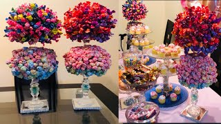 DIY lollipop tree for kids party & wedding decorating ideas