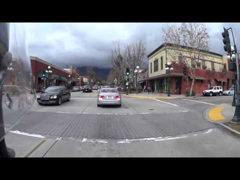 Motorcycle ride through downtown Monrovia 2-20-17
