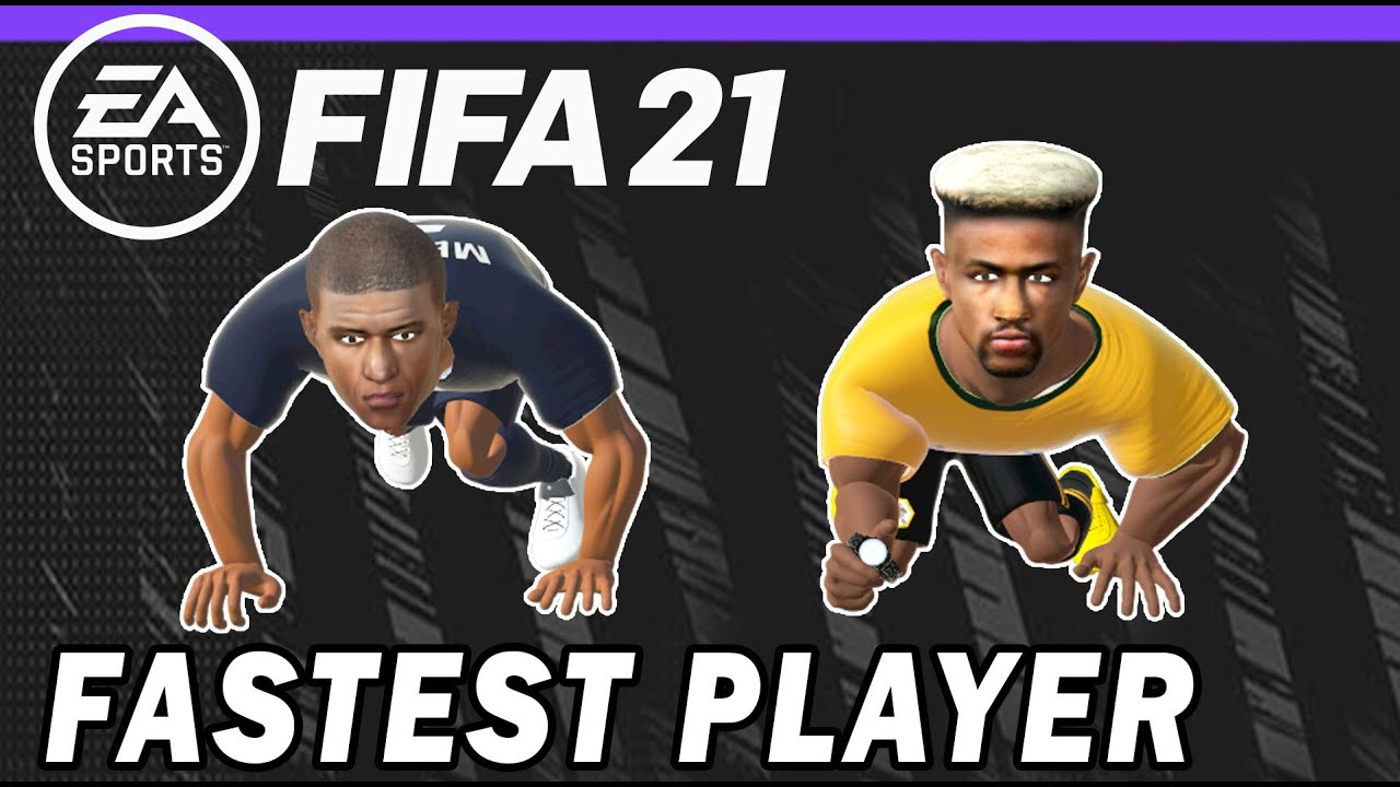 Fastest Fifa 21 Player Mbappe Vs Adama Traore Speed Test Youtube