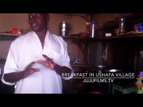 Scrambled eggs breakfast in Ushafa Village Nigeria