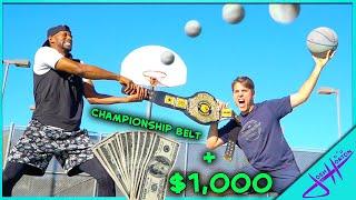 $1,000 Trick Shot H.O.R.S.E. vs former HARLEM GLOBETROTTER!
