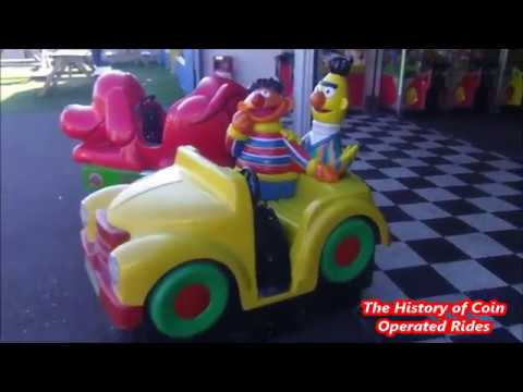 Bert and Ernie Fire Truck Coin Operated Kiddie Ride | eBay