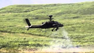 2010 富士総合火力演習 ヘリから機関銃