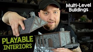 🏚️Multi-Level Buildings with Playable Interiors for D&D (Black Magic Craft Episode 106)